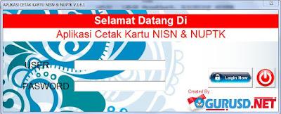 Aplikasi Cetak Kartu NUPTK dan NISN V.1.6.1 Gratis