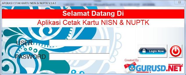 Aplikasi Kartu NUPTK dan NISN gurusd.net