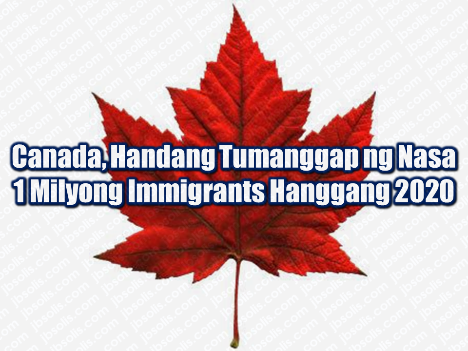 "Canada is among the list of people from different nationalities for an ideal country to immigrate and a home to thousands of overseas Filipino workers (OFW) and their families. This friendly country will again welcome about almost one million immigrants until 2020, according to the multi-year strategy tabled by the Liberal government five months ago in what it calls ""the most ambitious immigration levels in recent history. The number of economic migrants, family reunifications and refugees is expected to climb to 310,000 in 2018, up from 300,000 last year. That number will rise to 330,000 in 2019 then 340,000 in 2020."