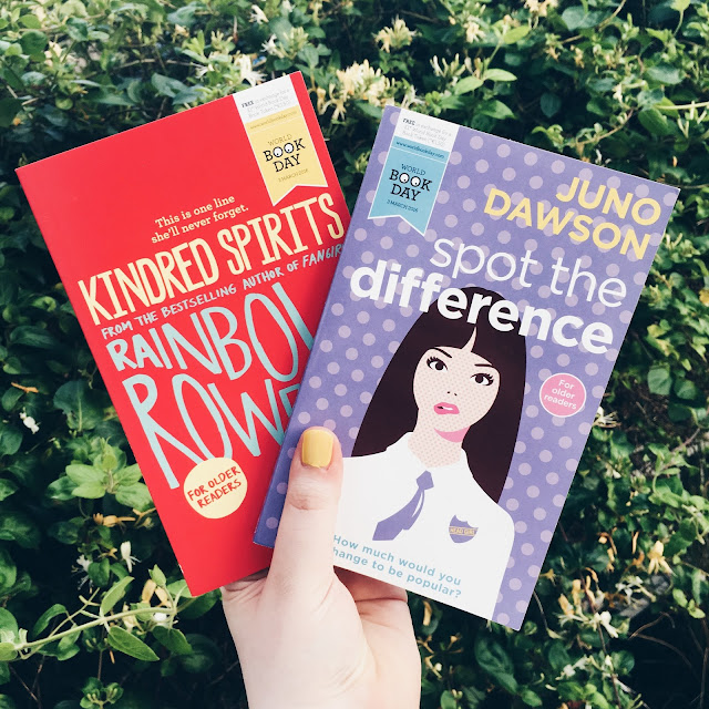 Kindred Spirits Rainbow Rowell Spot the Difference Juno Dawson World Book Day