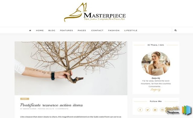 MasterPiece Responsive Blogger Template - Template Travel Blogger