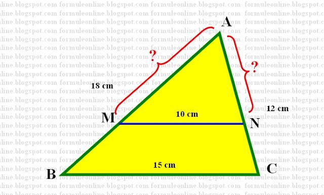 segmente in triunghi