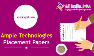 Ample Technologies Placement Papers
