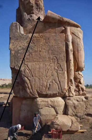 Missing parts of the Colossi of Memnon discovered