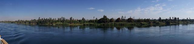 ナイル川沿岸の風景