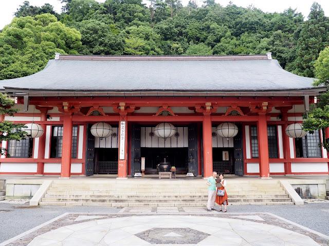 Kurama-dera Temple on the hiking path from Kurama to Kibune, Kyoto, Japan