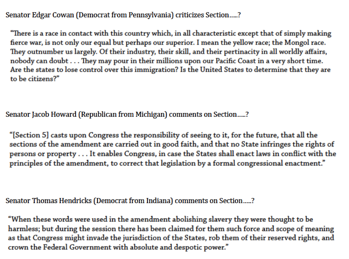 Madison : 13th 14th 15th amendments apush quizlet