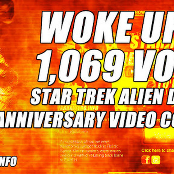 Woke Up To See 1,069 Votes (。◕‿‿◕。) ★ Star Trek Alien Domain Anniversary Video Contest
