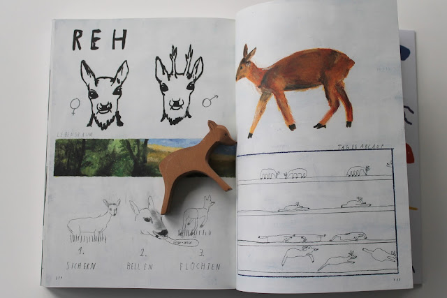 Er liest - ich lese... Buchtipps fuer Kinder und Eltern Oh ein Tier Tierbestimmungsbuch Reh Literatur Jules kleines Freudenhaus