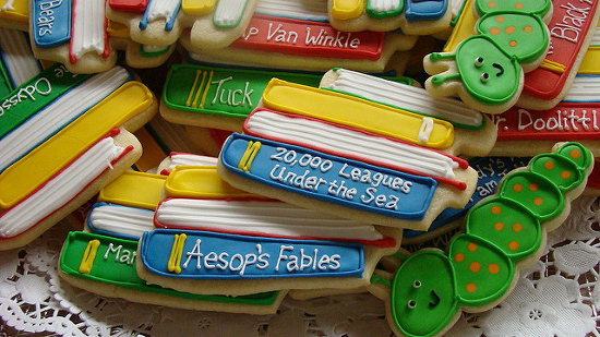 bookworm book cookie biscuits