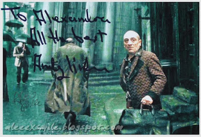 Andy Linden Mundungus Fletcher Autograf Harry Potter