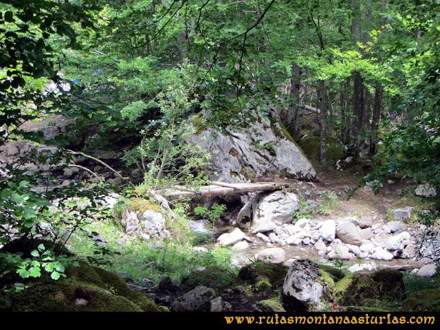 Ruta Lindes - Peña Rueda - Foix Grande: Puente sobre el río