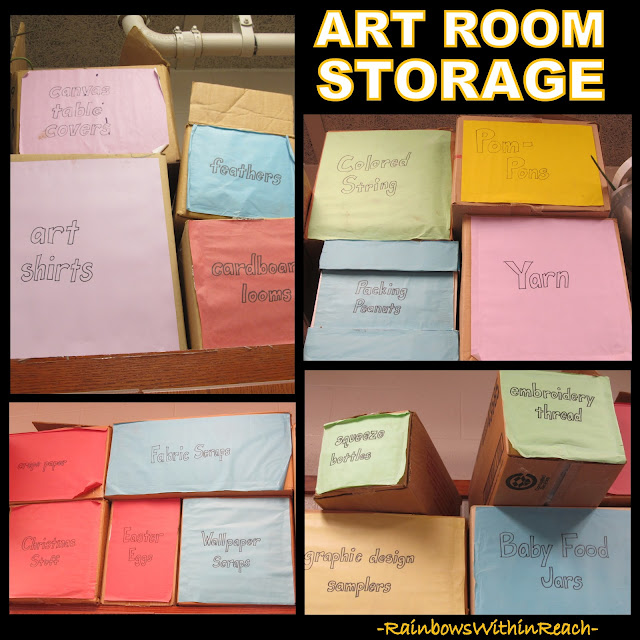 photo of: Art Room Storage (Art Room RoundUP via RainbowsWithinReach)