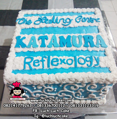Kue Tart Logo Kantor - The Healing Center KATAMURA Reflexology