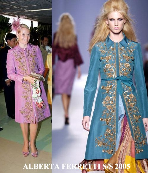 Crown Princess Mette-Marit wore Alberta Ferretti Coat Spring/Summer 2005 Ready-To-Wear