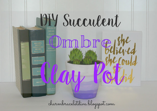 DIY Succulent Ombre Clay Pot tutorial