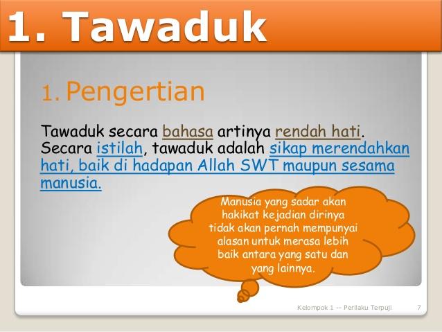 APA MAKNA TAWADHU - Islam Is Great