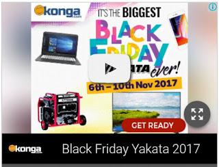 Konga Black Friday Yakata November 6th - 10th 2017