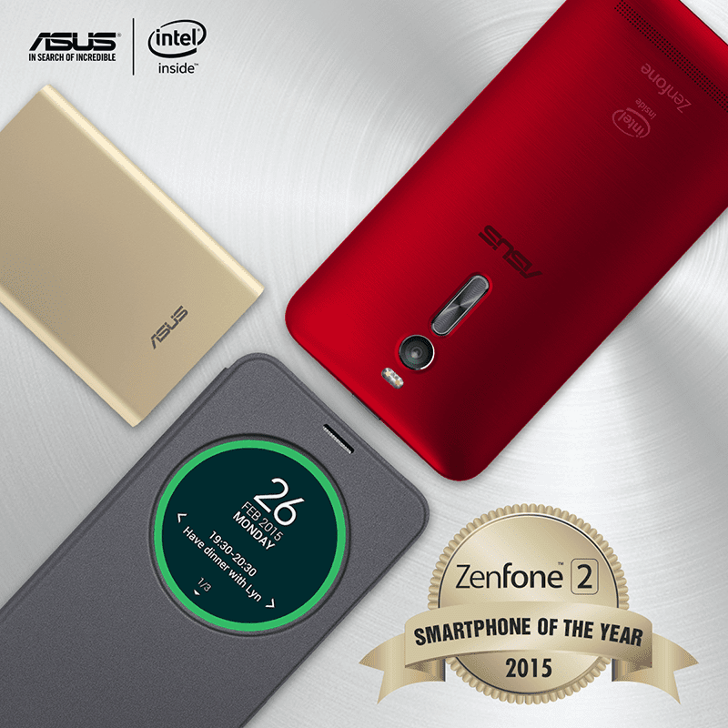 Asus ZenFone 2 smartphone of the year 2015
