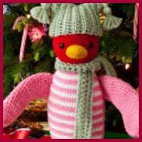 Pinguino rosa amigurumi