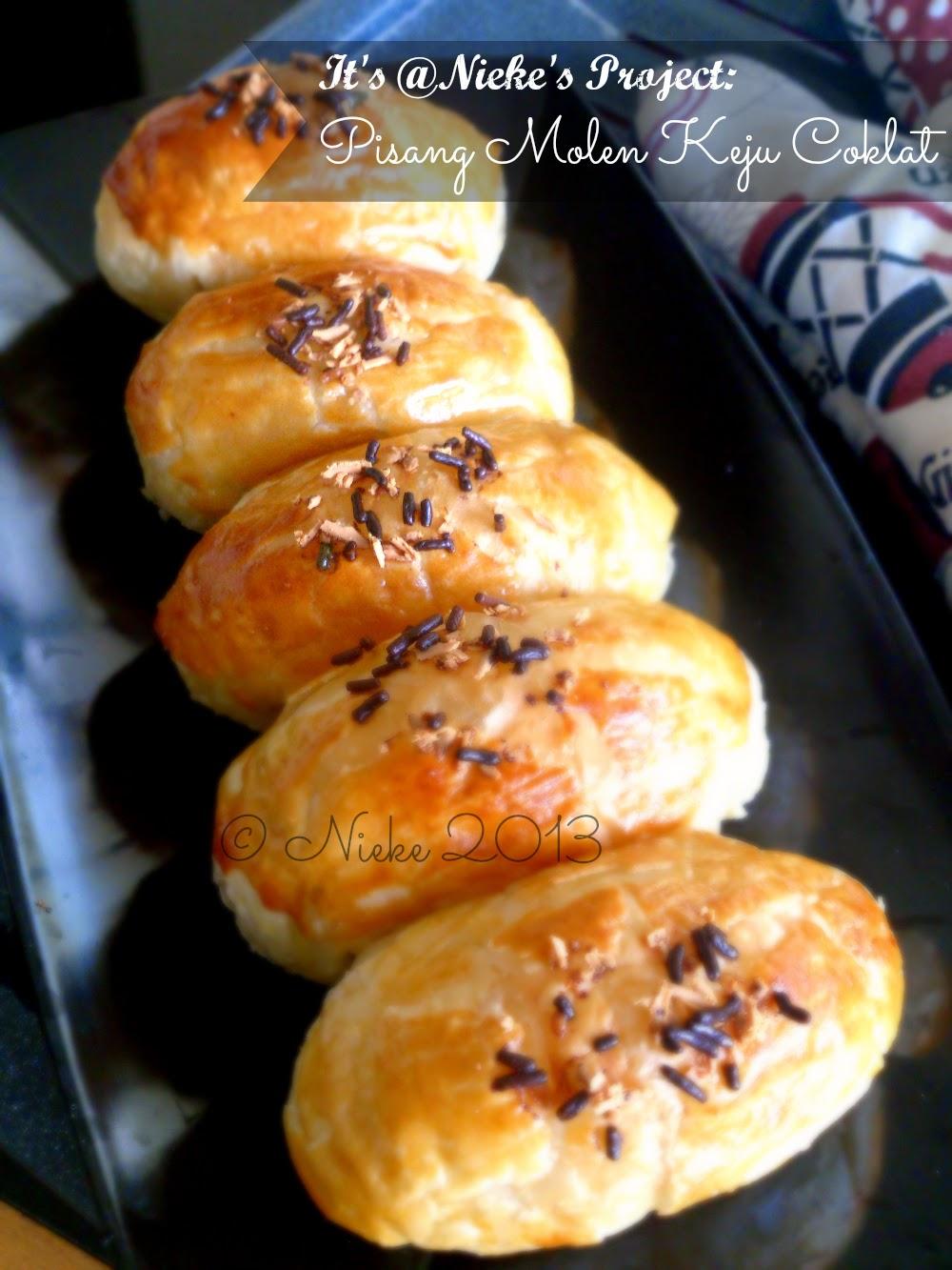 Resep Membuat Molen : resep, membuat, molen, Recipe:, Pisang, Molen, Coklat, Nieke