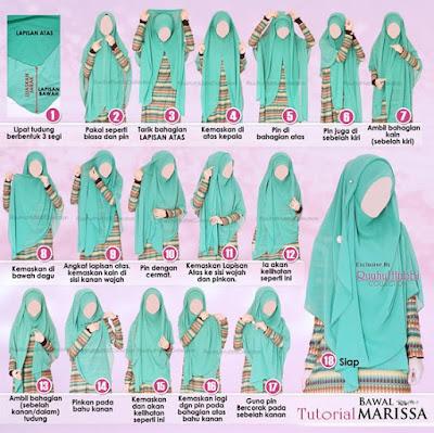 Tutorial Style Hijab Pashmina Syari Berlayer