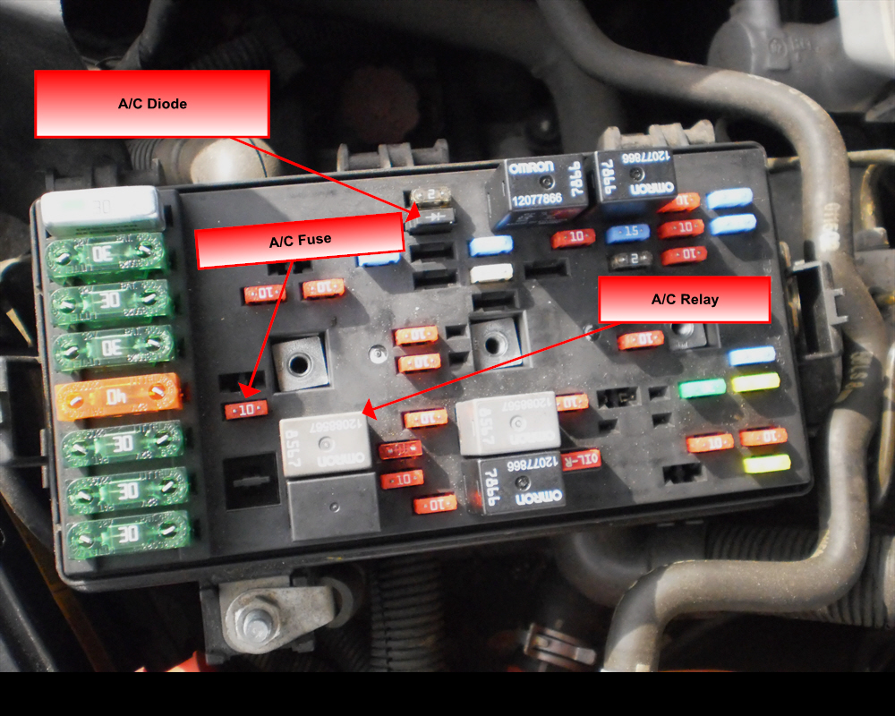 2002 saturn l300 ac wiring diagram 2002 free engine 2007 Chevy HHR Fusible  Link 1996 Camaro Fuse Box Under the Hood