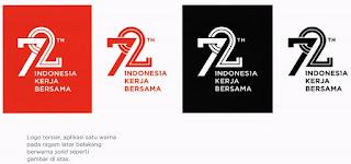 gambar 4 Logo Resmi Hut Ri ke 72