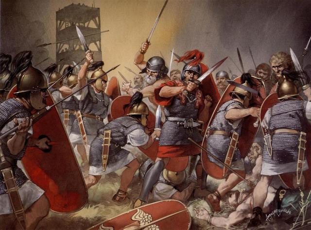 Roma pasó de conquistar tierras para que sus campesinos-soldados las cultivasen a conquistar para obtener directamente los campesinos de esas tierras, para utilizarlos como soldados.