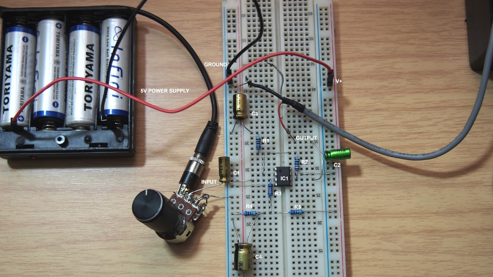 How to make a simple audio pre-amplifier