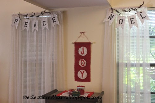 Eclectic Red Barn: Book banners and JOY banner