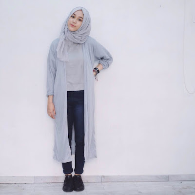 model fashion hijab untuk orang kurus tinggi