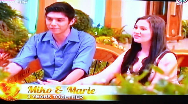 Couple  Miko and Marie on Realiserye 'I Do' of ABS-CBN