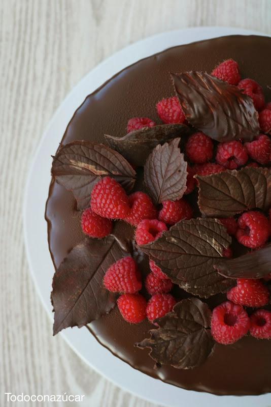 frambuesas y chocolate