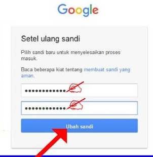 Buat kata sandi-password baru akun google
