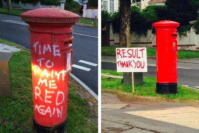 Mittelschicht Vandalismus führt zu guten Ergebnissen