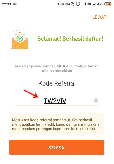 TW2VIV kode referral Akulaku
