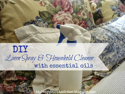 DIY essential oil linen spray and household cleaner
