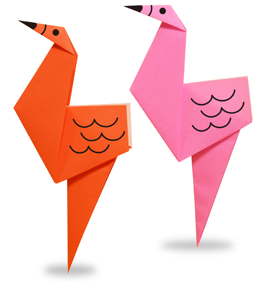 Easy Origami A Famingo