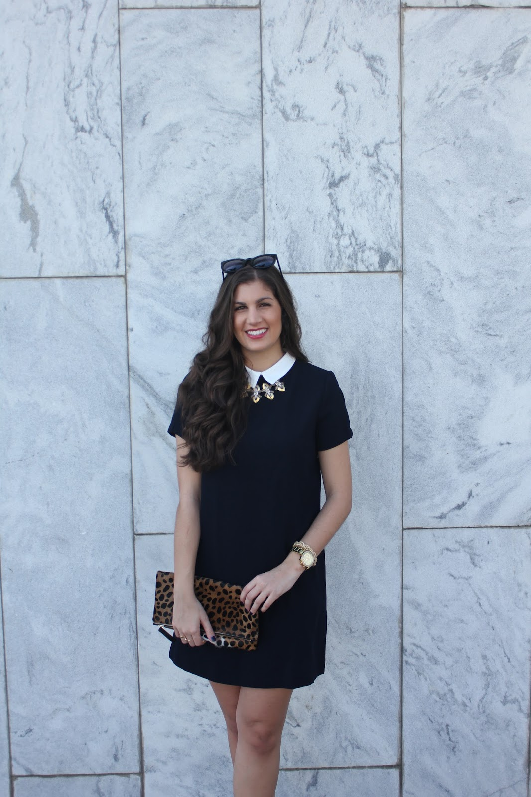 Casual Holiday Style With A Collar Dress - Neutral2Neon.com