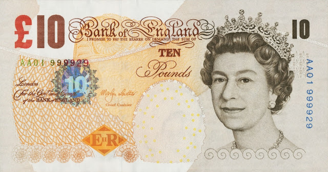 Great Britain 10 Pound Sterling note 2000 Queen Elizabeth II