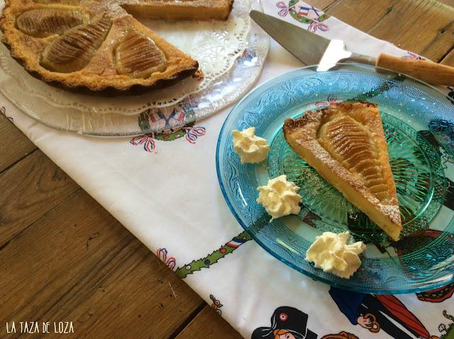 tarta-normanda-de-peras-porción