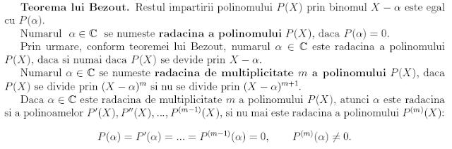 teorema lui Bezout