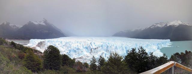 Panorama of Perito Moreno Glacier near El Calafate Argentina