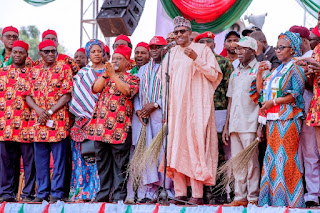 President Buhari preached the message of next level to the people of Abia, Imo