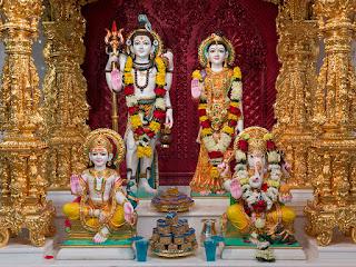 Shree Shiva-Parvati Dev, Shree Ganesha and Shree kartikeya