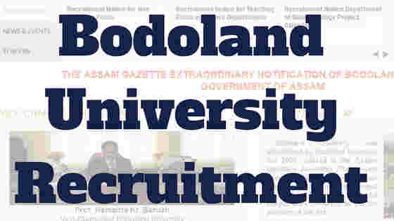 Bodoland University Recruitment 2018