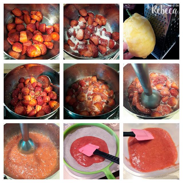 Receta de mousse de queso y yogur con frambuesas: la salsa de frutas