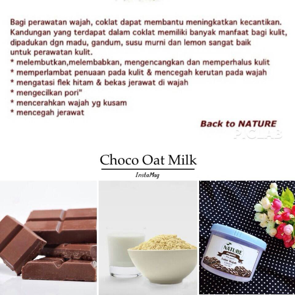 Hai Ariani Indonesian Beauty Blogger Nature Organic Choco Oat Lulur Wajah Bengkoang Milk Review