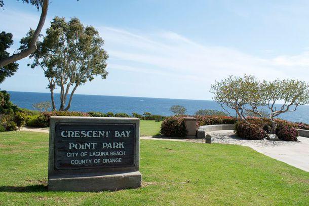 Tranquilidade na Crescent Bay Point Park em Laguna Beach